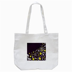 Vintage Retro Floral Flowers Wallpaper Pattern Background Tote Bag (white)