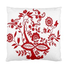 Red Vintage Floral Flowers Decorative Pattern Clipart Standard Cushion Case (one Side) by Simbadda