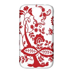 Red Vintage Floral Flowers Decorative Pattern Clipart Samsung Galaxy S4 Classic Hardshell Case (pc+silicone) by Simbadda