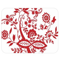 Red Vintage Floral Flowers Decorative Pattern Clipart Double Sided Flano Blanket (medium)  by Simbadda