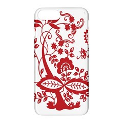 Red Vintage Floral Flowers Decorative Pattern Clipart Apple Iphone 7 Plus Hardshell Case