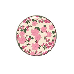 Vintage Floral Wallpaper Background In Shades Of Pink Hat Clip Ball Marker (4 Pack) by Simbadda