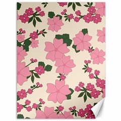 Vintage Floral Wallpaper Background In Shades Of Pink Canvas 36  X 48   by Simbadda