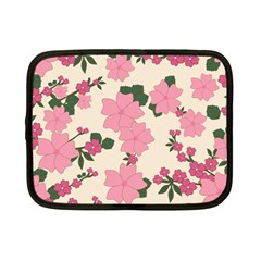 Vintage Floral Wallpaper Background In Shades Of Pink Netbook Case (small)
