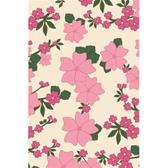 Vintage Floral Wallpaper Background In Shades Of Pink 5 5  X 8 5  Notebooks by Simbadda