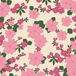 Vintage Floral Wallpaper Background In Shades Of Pink Storage Stool 12   Back