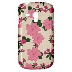Vintage Floral Wallpaper Background In Shades Of Pink Galaxy S3 Mini
