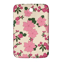 Vintage Floral Wallpaper Background In Shades Of Pink Samsung Galaxy Note 8 0 N5100 Hardshell Case  by Simbadda