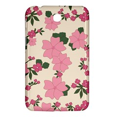 Vintage Floral Wallpaper Background In Shades Of Pink Samsung Galaxy Tab 3 (7 ) P3200 Hardshell Case  by Simbadda
