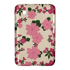 Vintage Floral Wallpaper Background In Shades Of Pink Samsung Galaxy Tab 2 (7 ) P3100 Hardshell Case  by Simbadda