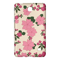 Vintage Floral Wallpaper Background In Shades Of Pink Samsung Galaxy Tab 4 (7 ) Hardshell Case