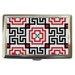 Vintage Style Seamless Black White And Red Tile Pattern Wallpaper Background Cigarette Money Cases by Simbadda