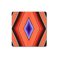 Diamond Shape Lines & Pattern Square Magnet by Simbadda