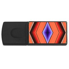 Diamond Shape Lines & Pattern Usb Flash Drive Rectangular (4 Gb) by Simbadda