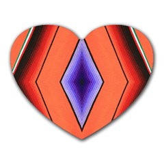 Diamond Shape Lines & Pattern Heart Mousepads by Simbadda
