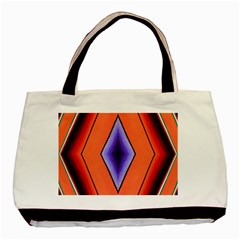 Diamond Shape Lines & Pattern Basic Tote Bag (two Sides) by Simbadda
