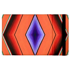 Diamond Shape Lines & Pattern Apple Ipad 3/4 Flip Case by Simbadda