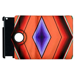 Diamond Shape Lines & Pattern Apple Ipad 2 Flip 360 Case by Simbadda