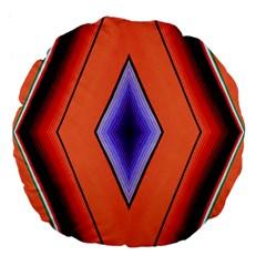Diamond Shape Lines & Pattern Large 18  Premium Flano Round Cushions by Simbadda