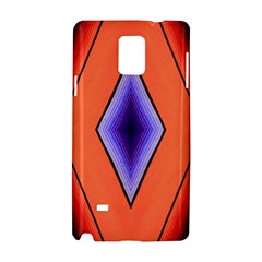 Diamond Shape Lines & Pattern Samsung Galaxy Note 4 Hardshell Case by Simbadda