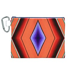 Diamond Shape Lines & Pattern Canvas Cosmetic Bag (xl) by Simbadda