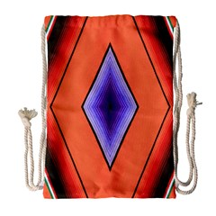 Diamond Shape Lines & Pattern Drawstring Bag (large) by Simbadda