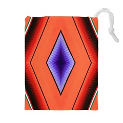 Diamond Shape Lines & Pattern Drawstring Pouches (extra Large) by Simbadda