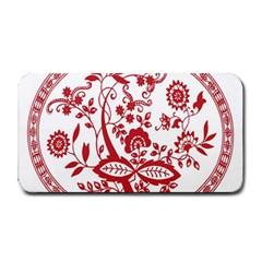 Red Vintage Floral Flowers Decorative Pattern Medium Bar Mats by Simbadda