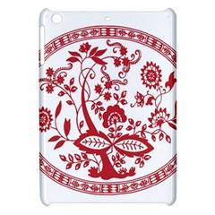 Red Vintage Floral Flowers Decorative Pattern Apple Ipad Mini Hardshell Case by Simbadda