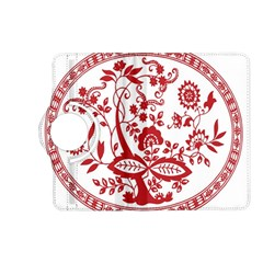 Red Vintage Floral Flowers Decorative Pattern Kindle Fire Hd (2013) Flip 360 Case by Simbadda