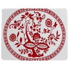Red Vintage Floral Flowers Decorative Pattern Jigsaw Puzzle Photo Stand (rectangular) by Simbadda