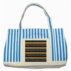 Abstract Elegant Background Pattern Striped Blue Tote Bag by Simbadda