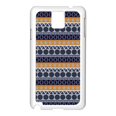 Abstract Elegant Background Pattern Samsung Galaxy Note 3 N9005 Case (white) by Simbadda