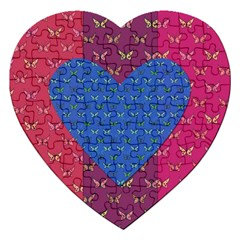 Butterfly Heart Pattern Jigsaw Puzzle (heart) by Simbadda