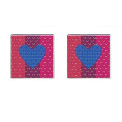 Butterfly Heart Pattern Cufflinks (square) by Simbadda