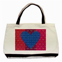 Butterfly Heart Pattern Basic Tote Bag (two Sides)