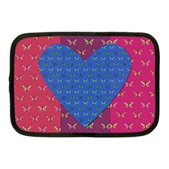 Butterfly Heart Pattern Netbook Case (medium)  by Simbadda
