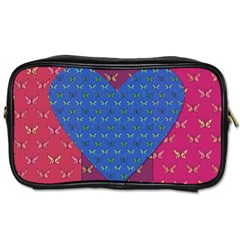 Butterfly Heart Pattern Toiletries Bags by Simbadda