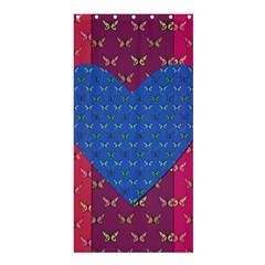 Butterfly Heart Pattern Shower Curtain 36  X 72  (stall)  by Simbadda