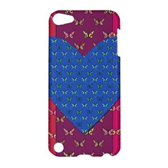 Butterfly Heart Pattern Apple Ipod Touch 5 Hardshell Case by Simbadda