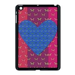 Butterfly Heart Pattern Apple Ipad Mini Case (black) by Simbadda