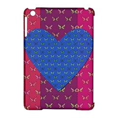 Butterfly Heart Pattern Apple Ipad Mini Hardshell Case (compatible With Smart Cover) by Simbadda