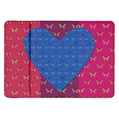 Butterfly Heart Pattern Samsung Galaxy Tab 8 9  P7300 Flip Case by Simbadda
