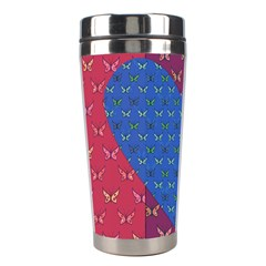 Butterfly Heart Pattern Stainless Steel Travel Tumblers by Simbadda