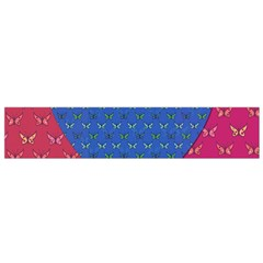 Butterfly Heart Pattern Flano Scarf (small) by Simbadda