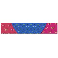 Butterfly Heart Pattern Flano Scarf (large) by Simbadda