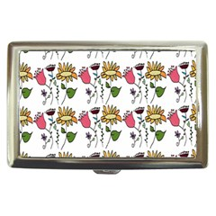 Handmade Pattern With Crazy Flowers Cigarette Money Cases by Simbadda