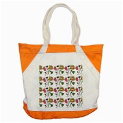 Handmade Pattern With Crazy Flowers Accent Tote Bag by Simbadda