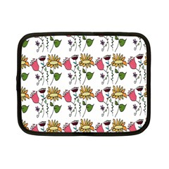 Handmade Pattern With Crazy Flowers Netbook Case (small)  by Simbadda