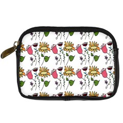 Handmade Pattern With Crazy Flowers Digital Camera Cases by Simbadda